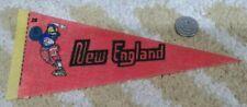 """Vintage New England Patriots unlicensed 4""""x9"""" NFL football Mini Pennant"""