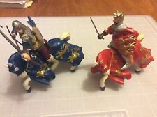PAPO KING RICHARD 2000 & MOUNTED ARCHER 2003 RED & BLUE CHARGERS 2001