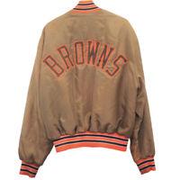 J9 Vintage Holloway Cleveland Browns Satin Bomber Jacket Men's Size XXL
