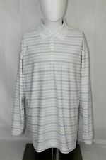 Nike Golf Fit-Dry Men's Xl Long Sleeve White Striped Polo Shirt All Polyester