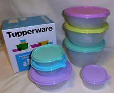 BNIB TUPPERWARE MODULAR MATES ROUND BOWL SET RRP $98 (pastel colours!!!)