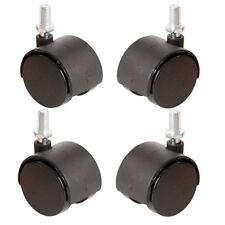 4 x 40 mm girevole Twin Ricino Bullone Vite su sedie ruota non si rompe marcatura S34