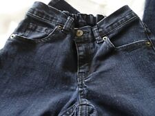 Crazy 8 Girl's Size 8 Dark Wash Blue Jeans-Adjustable Waist-Back Elastic Panel
