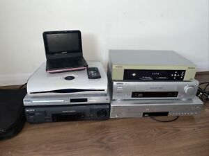 Job Lot Of 7x VHS VCR Video Recorder Sky Boxes DVD Player Some Work Some Spares