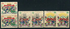 CHINA PRC 1959 10th ANNIV. of FOUNDING of PRC (Sc 453-5) pairs VF MNH