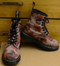 Dr Martens Castel, red Floral Women's Boots, Size UK 3 EU 36