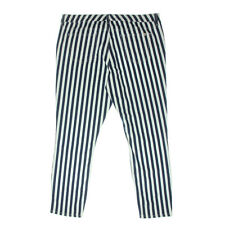 NEW Womens Stunning Tommy Hilfiger As Art Work Twill Striped Chino Pants AU 6