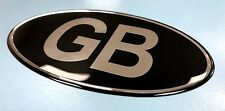 Slight Second - GB Oval 100mm Sticker - Retro - CHROME/BLACK- GLOSS DOMED GEL