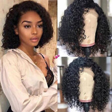 35cm Black Short Curly Human Hair Wig Women Lace Front Wigs Hair Wigs Hot Sale
