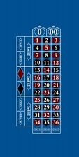"Nice 118"" Professional Vegas Regulation Roulette Table Felt Cloth Blue LYT-RT"