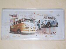 Volkswagen VW US Route 66 Beetle Kombi Bus - Novelty Metal Number Plate / Sign