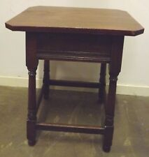 Vintage 1930s Solid Oak Small Hall Occasional Table Country Piece