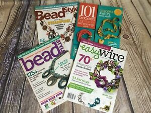 Lot of 4 Beaded Jewelry Craft Magazines 2010-12 Bracelets Necklaces Earrings