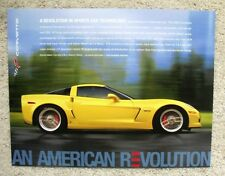 """2006 Corvette  /  Z06  - 8.5"""" x 11"""" -  Picture & Specifications Data Card  - NEW"""
