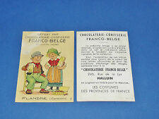 CHROMO CHOCOLATERIE FRANCO-BELGE HALLUIN NORD COSTUMES FRANCE FLANDRES CAMBRESIS
