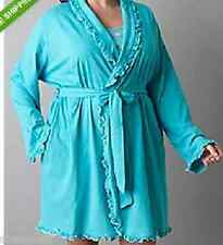 Lane Bryant Cacique Drink print chemise & Blue Curacao robe set size 14/16 sharp