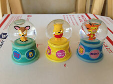 DISNEY STORE RETIRED CUTIES SERIES SNOWGLOBE Lot Pooh Tigger Bambi RARE