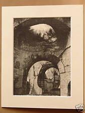 BATHS OF CARACALLA ROME ITALY ANTIQUE ENGRAVING c1890