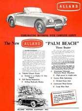 Allard Palm Beach 1952 3 Seater - The New Allard Palm Beach Three Seater