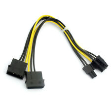 8Pin to Dual Large 4Pin Connector Port Graphics Card Power Supply Cable D Type