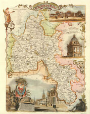Oxfordshire Reproduction Antique Map c1841 byThomas Moule 20x16 Wall Poster NEW