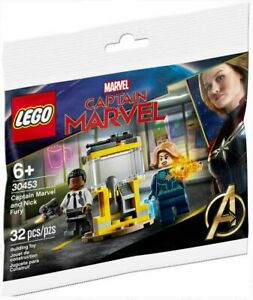 NEW LEGO® Captain Marvel Polybag 30453 2 Minifigs, Includes Nick Fury Minifigure
