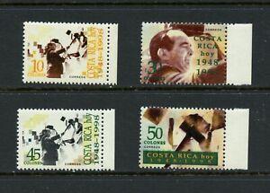 W947  Costa Rica  1998  50th Anniversary   4v.    MNH