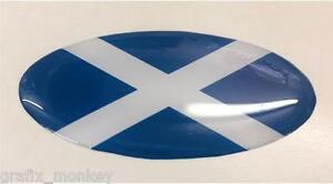 Scomadi Horncast Badge Scottish Saltire Flag Logo