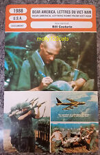 US Documentary Dear America: Letters Home from Vietnam French Film Trade Card