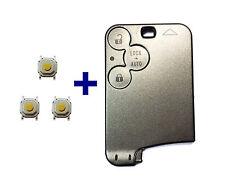 3T Spare Key Card Case for Renault Laguna Espace VEL SATIS + 3x Push Button
