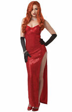 Jessica Rabbit Silver Screen Sinsation Cosplay Masquerade Adult Costume Sm (6-8)