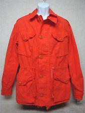 RALPH LAUREN - Men's Canadian Combat Jacket - Orange Canvas - Size L  (Slim)