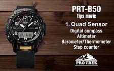 CASIO PRO TREK PTR-B50-1ER QUAD SENSOR, BLUETOOTH, STEP COUNTER