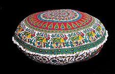 "Large Mandala Floor Pillow 32"" Indian Tapestry Cushion Cover Boho Ottoman Poufs"