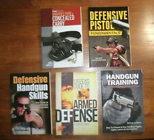 HUGE LOT of PERSONAL DEFENSE books: Handgun Training/ Concealed Carry ... * NEW