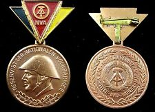 National People's Army DDR Military Reserve Forces Soldier Medal  Badge 1970's