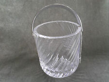 """Dartington Crystal ice bucket in the """"Swirl"""" pattern. Rare to find"""