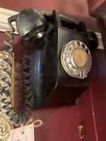 1950s  - Black Bakelite Rotary Wall Phone