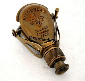 Binocular Antique Brass Monocular MADE FOR ROYAL NAVY LONDON 1917 Spyglass Scope
