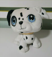 LITTLEST PET SHOP DALMATIAN STUFFED ANIMAL SPOTTY HASBRO LPS MOVEABLE HEAD