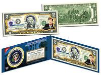 JOHN F KENNEDY * 35th U.S. President * Colorized $2 Bill US Genuine Legal Tender