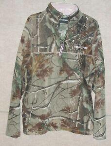 Women's camouflage REAL TREE fleece pull over sweatshirt , size M 8-10