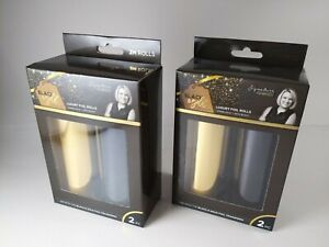 """NEW Sealed 4 ROLLS Crafters Companion Foil, 6"""" x 2M, EMPIRE GOLD & BLACK ONYX"""