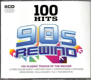 100 Hits 90s Rewind - 100 Classic Tracks Of The Decade - 5 CDs Box Set 2014