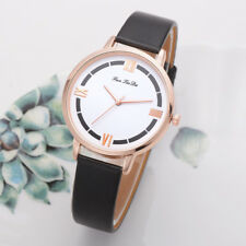 New Women's Leather Band Wrist Watch Ladies Fashion Casual Analog Quartz Watches
