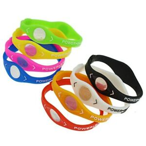 Wristband Power Balance Energy Bracelet Sport Ion Magnetic Therapy Minerals band