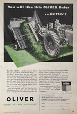 1947 AD.(XC24)~OLIVER CORP. CHICAGO. OLIVER JUNIOR 18 HAY BALER