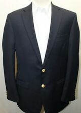 Classic Ralph Lauren Men Blazer Navy Blue 40L 2 Gold Buttons Lined Wool