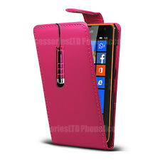 Flip Leather Case Cover Pouch + Stylus For Nokia Lumia Asha Phones Models