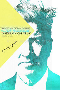 DAVID LYNCH INSPIRATIONAL QUOTE PRE SIGNED POSTER PRINT PHOTO N.0 2 - TWIN PEAKS